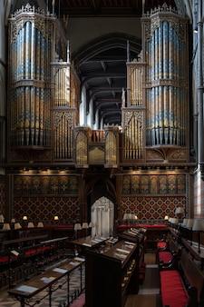 ロチェスターの大聖堂のオルガンの眺め