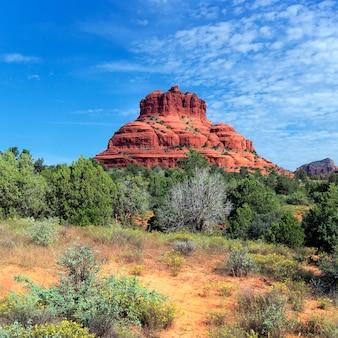 Вид на красную скалу седоны, аризона
