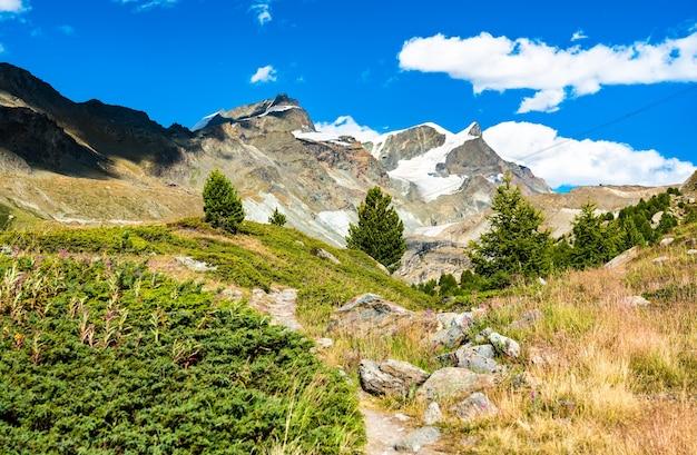 ツェルマット近くのスイスアルプスの眺め