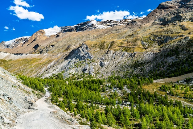 체르마트 근처 스위스 알프스의 전망