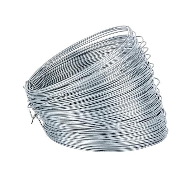 白のコイルのユニバーサル亜鉛メッキワイヤーのビュー