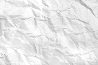 View of white crumpled paper