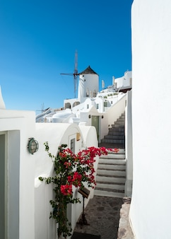 View of oia with a windmill