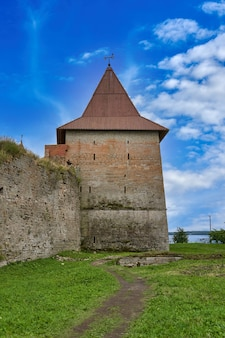 View of the old stone fortress with a watchtower