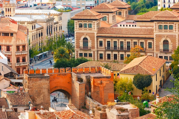 View of the old town, granada, andalusia, spain