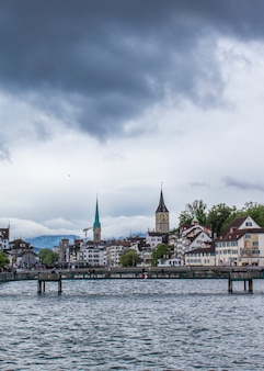 View of the old town in zurich