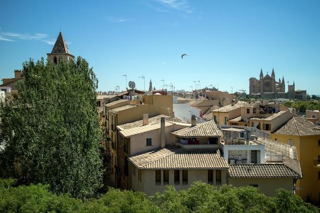 팔마 데 마요르카 고대 주택과 건물에서보기