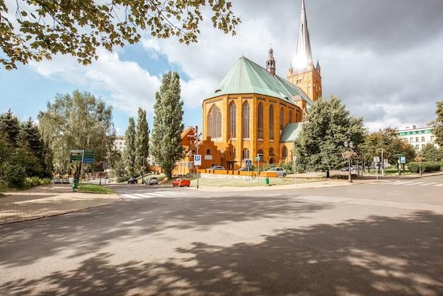 ポーランド、シュチェチンの聖ヤコブ使徒大聖堂の眺め