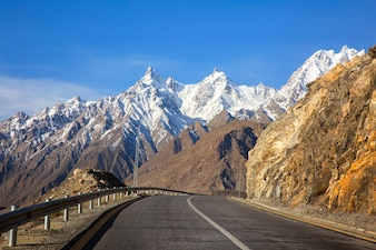 View on the new silk road National Highway