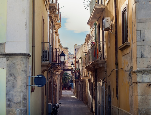 View of the ortigia street
