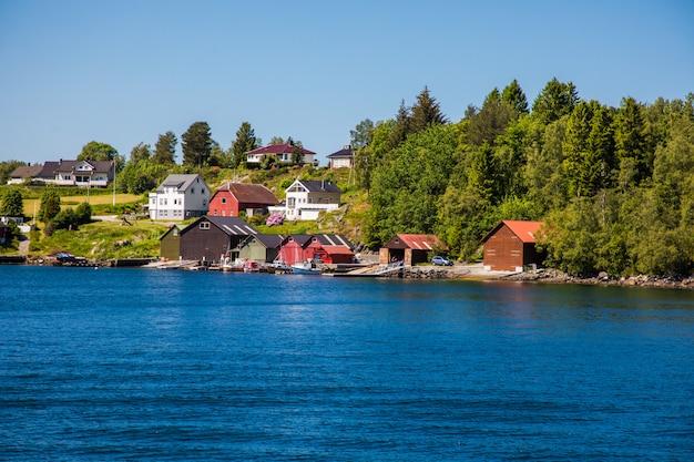 ノルウェーのオーレスンの景色
