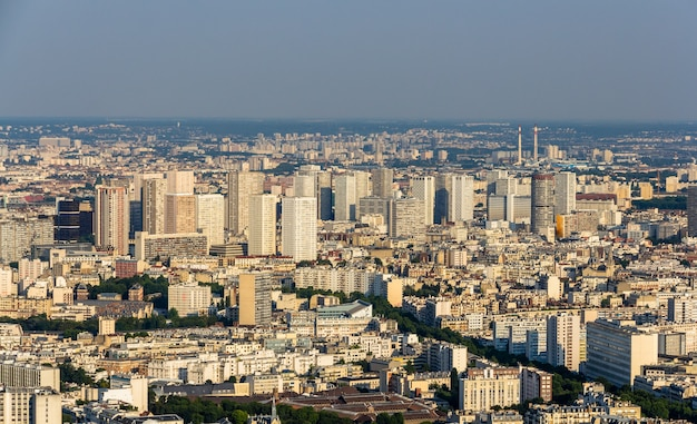 View of paris from main montparnasse tower
