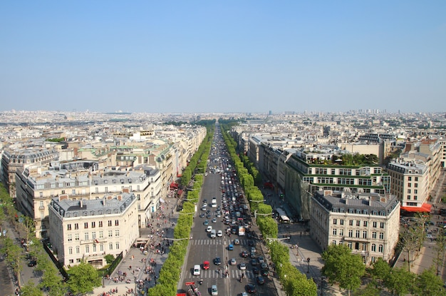 View of paris from the triumphal arch