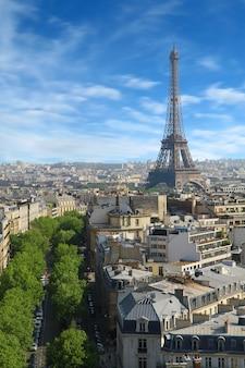 View of paris and tour eiffel