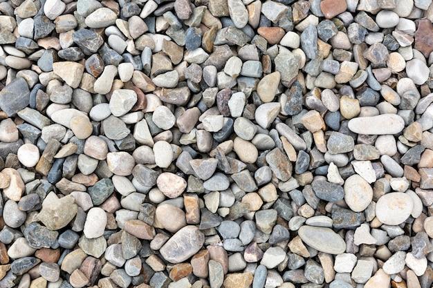Above view pebbles arragement