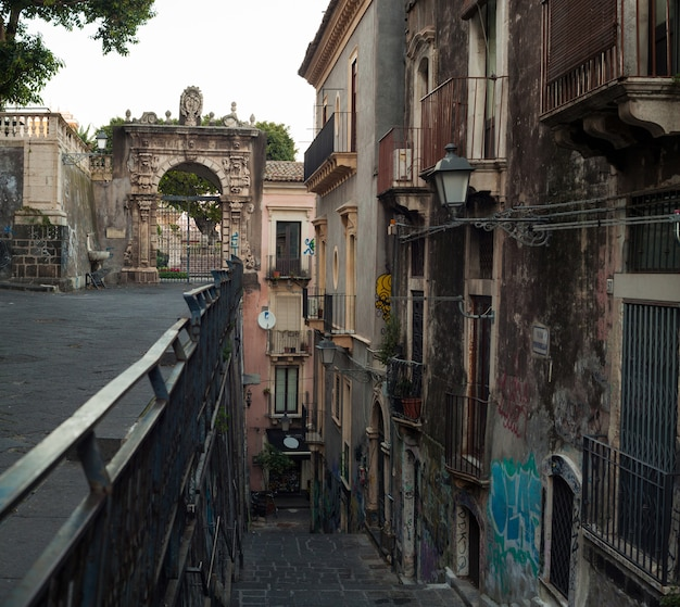 View of the penninello street, catania