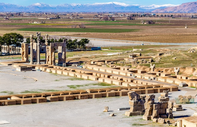 View on persepolis from the tomb of artaxerxes iii - iran