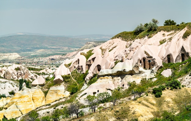 View of pigeon valley in goreme national park, turkey