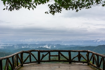 View point balcony at Thong Pa Phum National Park , Kanchanaburi, Thailand