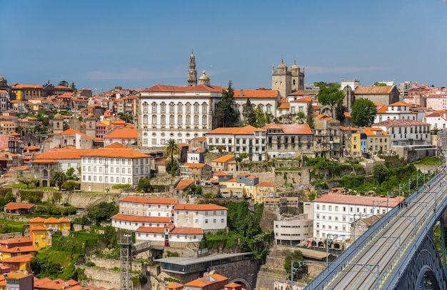 View of porto old town in portugal