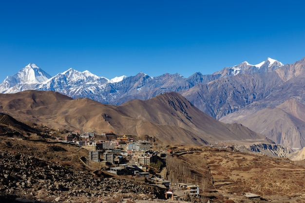 View on the ranipauwa village near muktinath