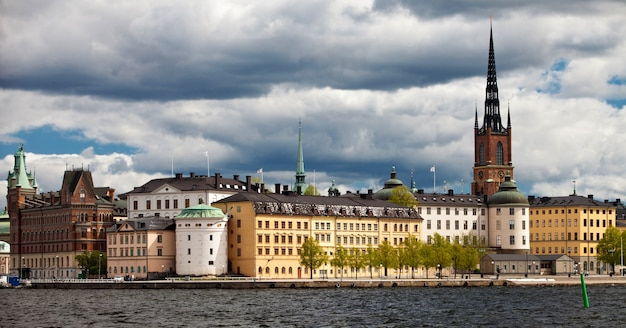 View of riddarholmmen from stockholm city hall