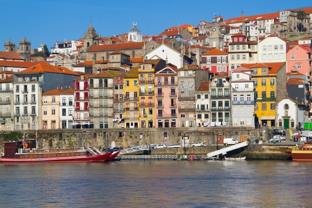 View on river and city porto