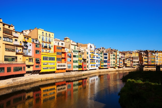 View of river onyar and houses in girona