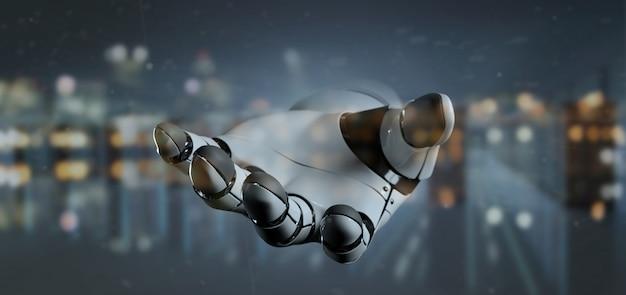 View robot hand cyborg - 3d rendering