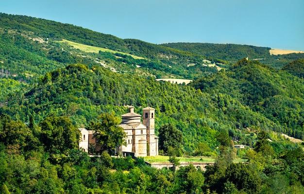 View of saint bernardino church from urbino in italy