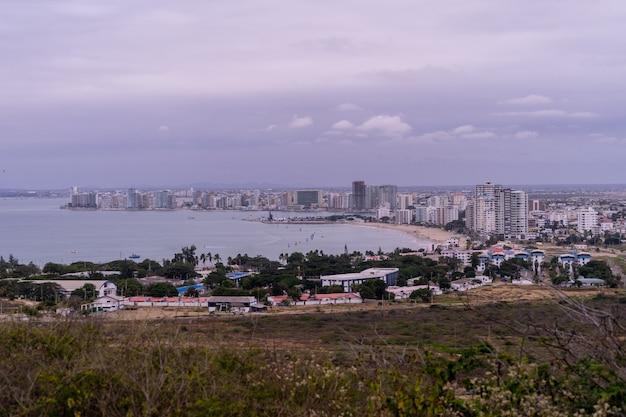 A view of salinas, ecuador,