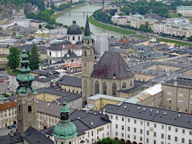 The view on salzburg, austria
