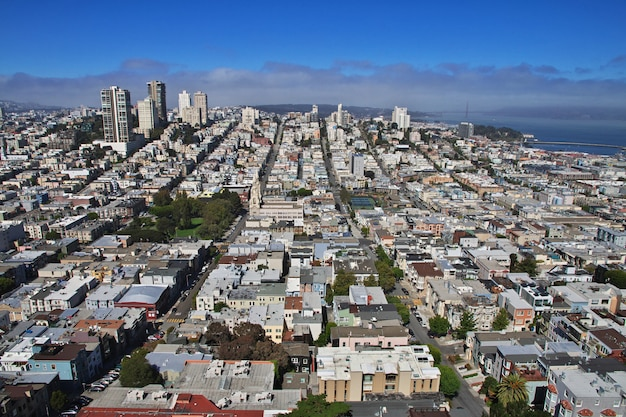 The view on san francisco, west coast of the united states