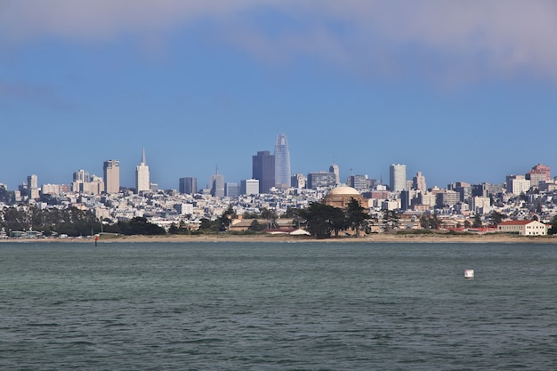 The view on san francisco on west coast of united states