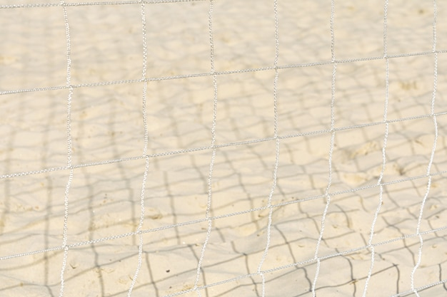 View of the sand through the protective grid.