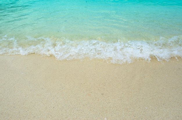 View of sea and sand in holiday time ,travel thailand ,lipe koh.