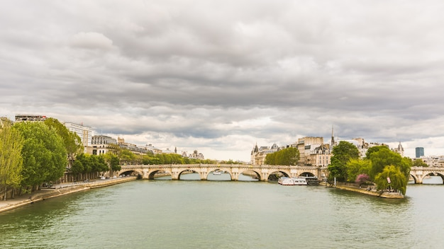 View of seine and ile de la cite in paris