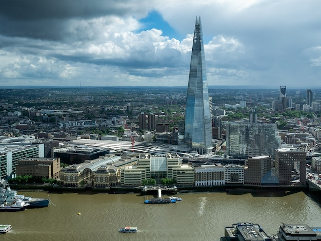 View of the shard building in london