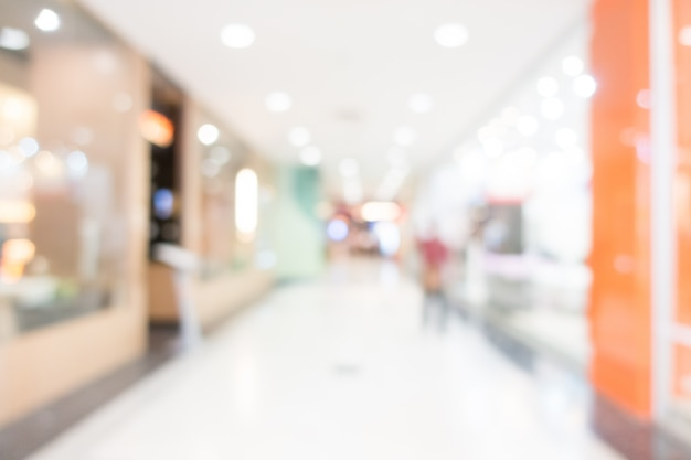 View of shopping mall with blurred aisle