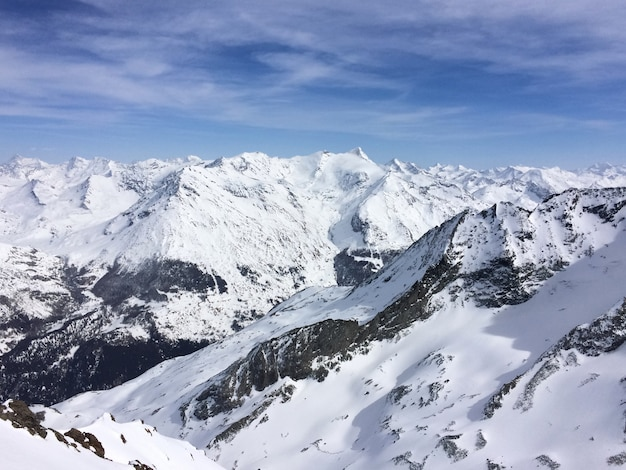 View on snowy peak moutain