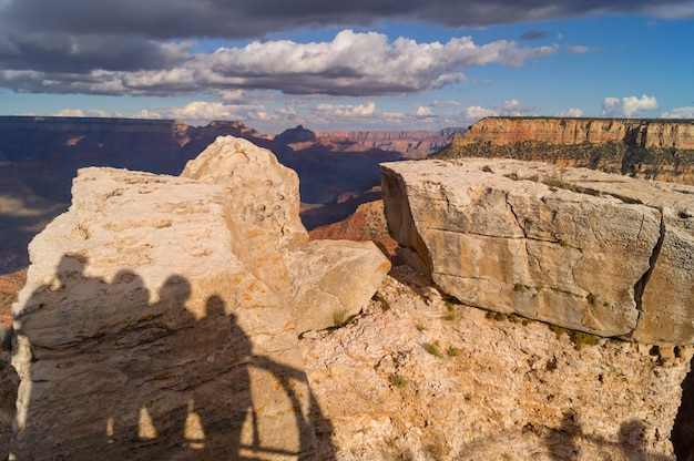 View over the south rim part to the grand canyon in arizona, usa.