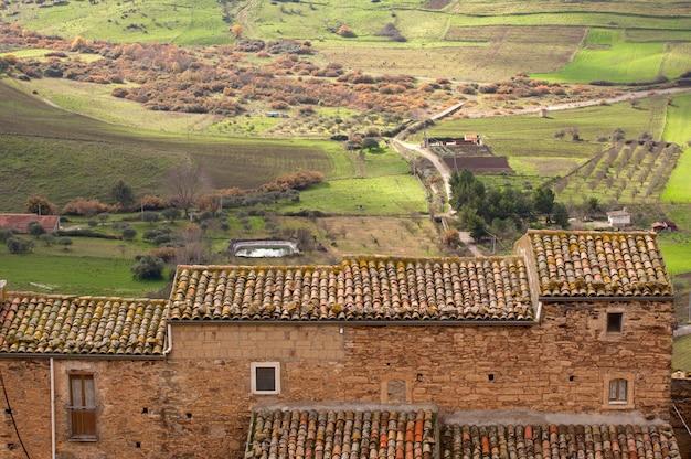 View of sperlinga, sicily
