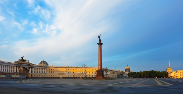 View of st. petersburg. the alexander column