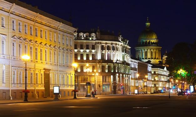 View of st. petersburg in night
