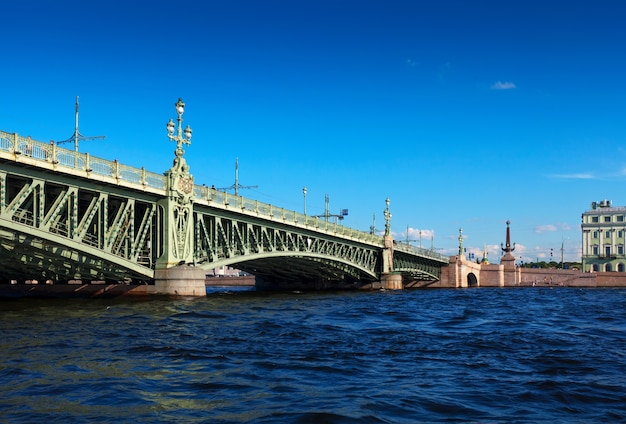 View of st. petersburg. trinity bridge