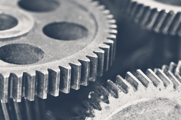 View of stack of gears