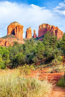 View of sunset at cathedral rock sedona