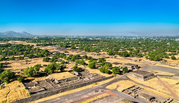 View of teotihuacan, an ancient mesoamerican city in mexico