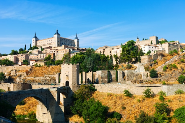 View of toledo with puente de alcantara Free Photo