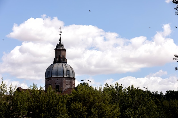 View of the top of a cathedral